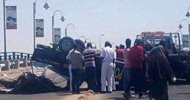انقلاب سيارة مساعد مدير أمن المنيا على صحراوى بنى سويف دون إصابات