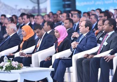 انطلاق جلسة «استراتيجية تطوير التعليم» ضمن مؤتمر الشباب بحضور «السيسي»