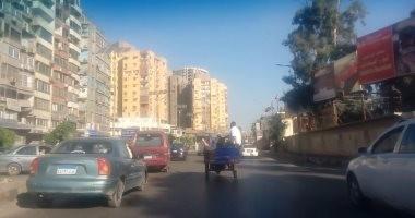 النشرة المرورية.. كثافات متحركة بمحاور وميادين القاهرة والجيزة