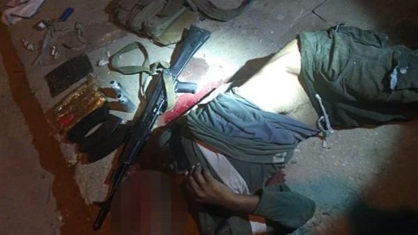 شاهد.. التصدي لهجوم على كمين بالعريش ومصرع 4 إرهابيين