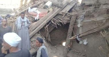 صور.. تفاصيل مصرع شخصين وإصابة 2 آخرين فى انهيار منزل بالأقصر