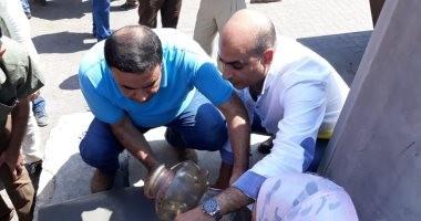 صور.. جمارك دمياط تضبط مشكاوتين مسروقتين من مسجد الرفاعى