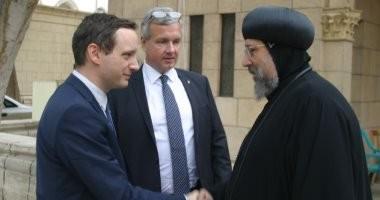 الأنبا إرميا يستقبل وزير الشؤون الخارجية والتجارة المجرى بالمركز الثقافى القبطي