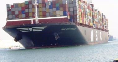 """""""اقتصادية قناة السويس"""": موانئ بورسعيد والسخنة تستقبل 39 سفينة"""
