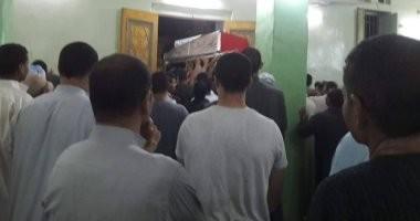 تشييع جنازة شهيدين من أبناء الوطن بمركز مغاغة فى المنيا