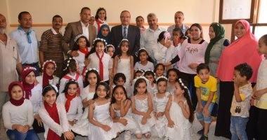 صور.. محافظ بنى سويف يفتتح 3 مدارس ابتدائى وإعدادى بتكلفة 12 مليون جنيه