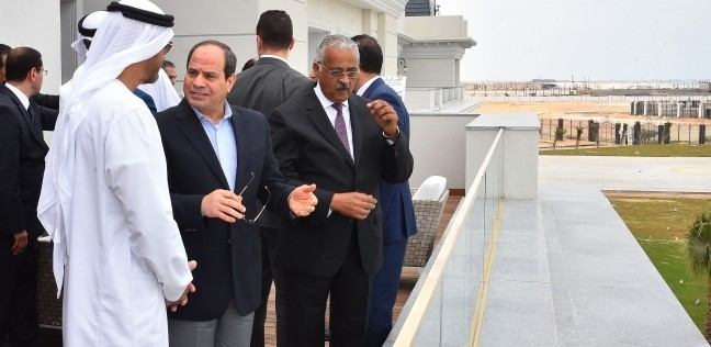"""السيسي وبن زايد يتفقدان إنشاءات """"العلمين الجديدة"""" والمتحف العسكري"""