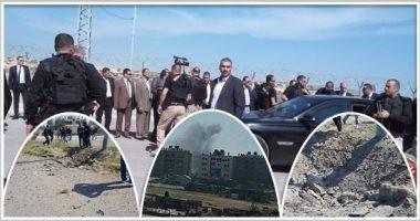 أول فيديو لمحاولة استهداف موكب رامي الحمدالله رئيس وزراء فلسطين بغزة