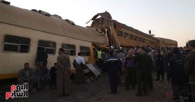 حبس سائق قطار ركاب المناشى ومساعده وعامل التحويلة 4 أيام على ذمة التحقيق