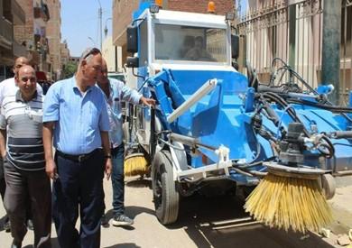 مجلس «مطاي بالمنيا» يجري تجربة عملية لمكنسة آلية لتنظف الشوارع
