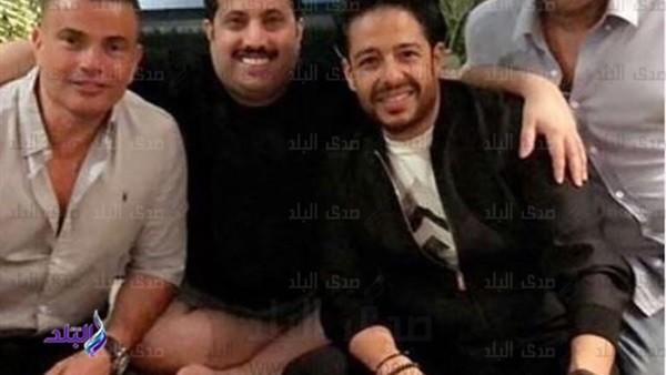 تركي آل الشيخ يجمع بين عمرو دياب وحماقي.. شاهد