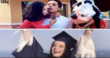 شاهد.. كيف احتفلت ابنة عامر منيب بتخرجها من الجامعة