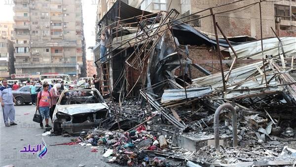 حكايات من جهنم.. شهود يروون لحظات النار والموت في حريق سنتر الهرم.. فيديو وصور