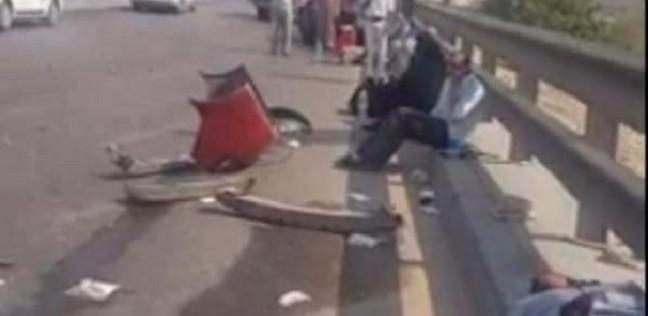 """الصور الأولى لحادث """"كوبري طرة"""".. والحصيلة الأولية: 14 قتيلا و9 مصابين"""