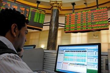 الأحمر يكسو شاشات البورصة ورأسمالها السوقي يخسر 7.7 مليار جنيه