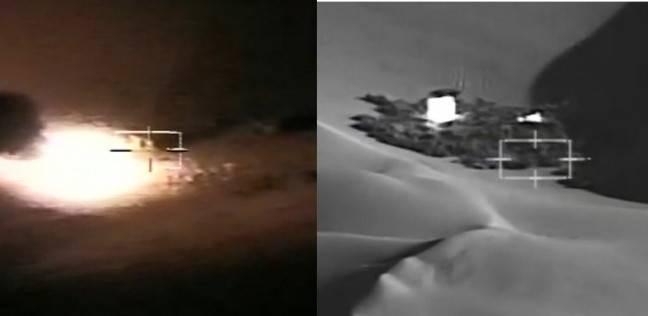 بالصور| إحباط محاولة جديدة لاختراق الحدود الغربية.. وتدمير 8 سيارات دفع رباعي
