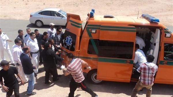 إصابة 5 مجندين إثر انقلاب سيارة شرطة بالطريق الصحراوي الشرقي في سوهاج