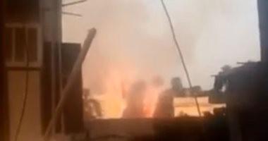 قراء يشاركون بفيديو لحريق فى حدائق أنطونيادس بالإسكندرية