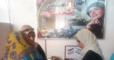 """بالصور.. الإنتاج الحربى تشارك فى حملة """"الشعب يأمر"""" بأرض المعارض"""