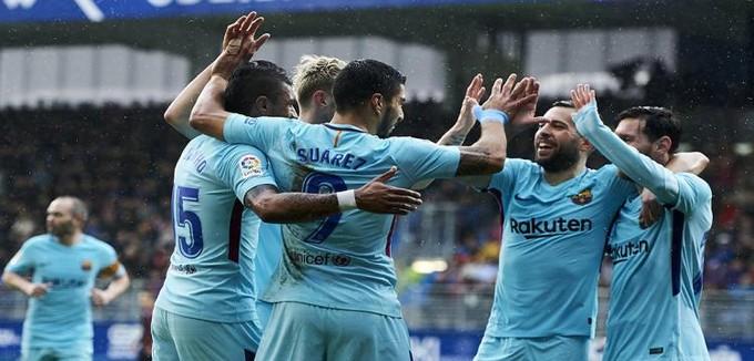 الليجا.. إيبار 0-2 برشلونة.. ألبا يسجل