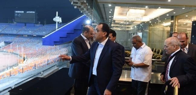 بالصور  زيارة ليلية لرئيس الوزراء لاستاد القاهرة لمتابعة ترتيبات بطولة أفريقيا