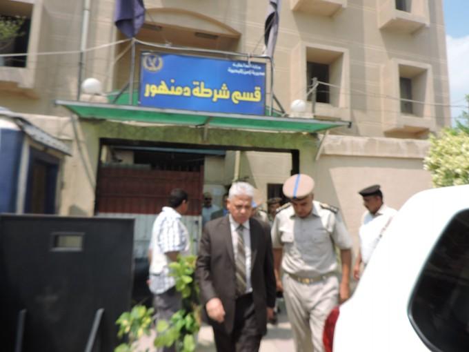 بالصور.. مدير الأمن يتفقد مركز دمنهور وشرطة النجدة
