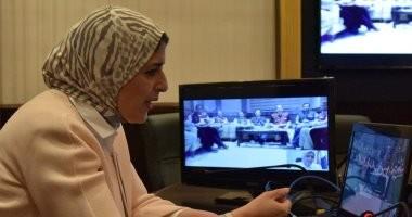 """وزيرة الصحة تطمئن على حجاج بيت الله الحرام عبر """"فيديو كونفرانس"""""""
