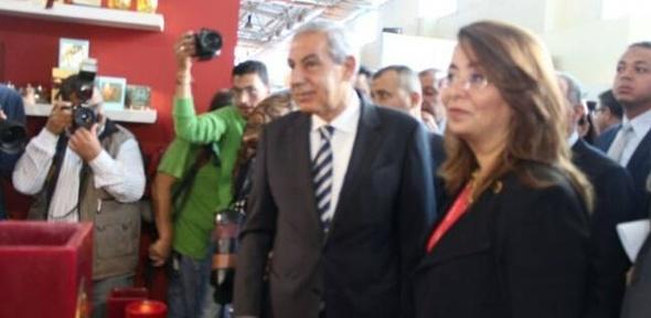 وزيرة التضامن تفتتح المعرض الدولي للصناعات اليدوية بأرض المعارض
