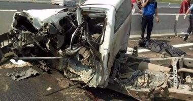 مصرع وإصابة 14 شخصا بحادث انقلاب سيارة ميكروباص بترعة فى البحيرة