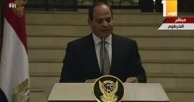 """السيسي للسودانيين: """"والله لن تروا من مصر إلا كل طيب"""""""