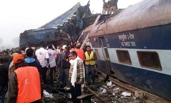 ارتفاع ضحايا قطار الهند إلى 91 قتيلًا
