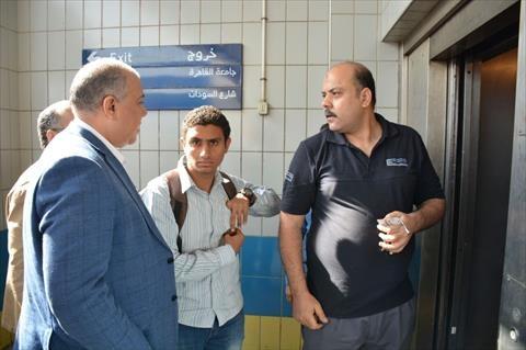 «مترو الأنفاق» تدرس تركيب مصاعد كهربائية بمحطة «الجامعة»