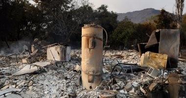 بالصور.. أثار مدمرة للحرائق فى شمال ولاية كاليفورنيا