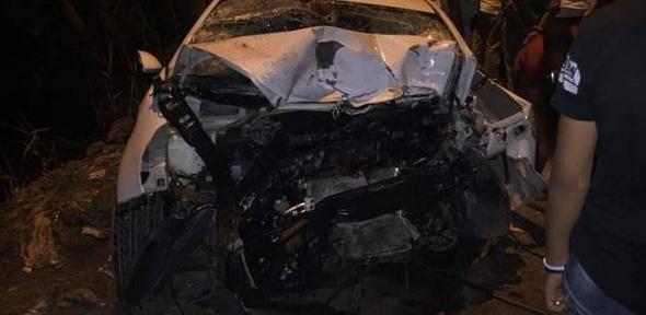 مصرع 3 أشخاص وإصابة 3 في حادث انقلاب ميكروباص ببني سويف