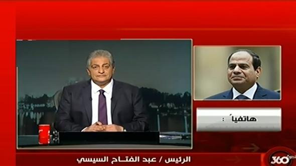 أسامة كمال يتقدم بالشكر للرئيس في آخر حلقة له بـ«القاهرة 360»