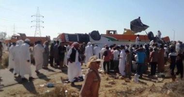 فيديو.. ارتفاع عدد ضحايا أتوبيس المصطافين بطريق مطروح لـ6 وفيات وإصابة 27