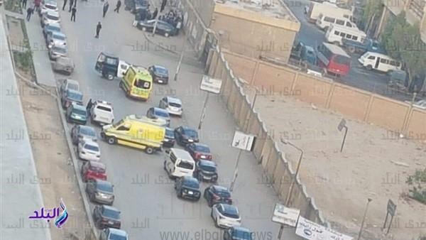 ننشر أول صور من حادث استشهاد ضابط شرطة على يد مسلحين بالنزهة