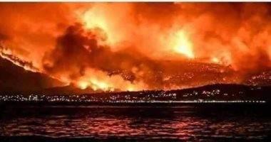 صور.. الصيادون المصريون باليونان ينقذون 70 شخصا من حريق فى إحدى المدن