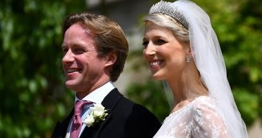 الملكة إليزابيث والأمير هارى يحضران حفل زفاف الليدى جابرييلا فى قلعة وندسور