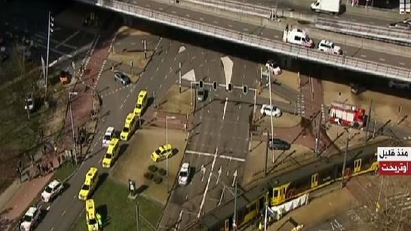 شاهد.. اللقطات الأولى لحادث إطلاق نار في مدينة أوتريخت بهولندا