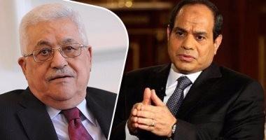 أبومازن يشكر السيسى على جهود مصر فى إنجاز اتفاق المصالحة الفلسطينية