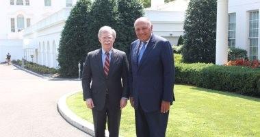 """""""شكرى"""" يؤكد لمستشار الأمن القومى الأمريكى أهمية علاقات البلدين المشتركة"""