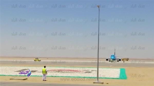شاهد.. هبوط أول رحلة تجريبيا في مطار العاصمة الإدارية الجديدة