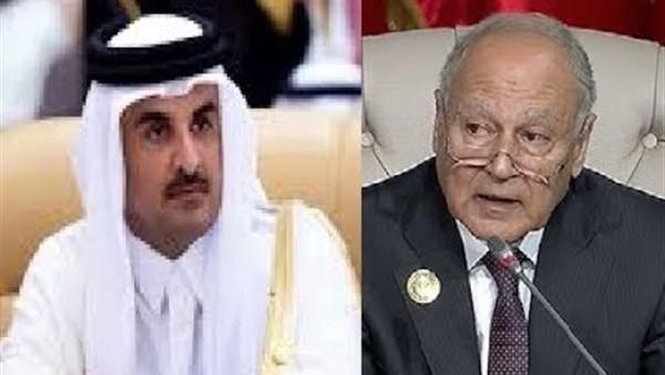 أول تصريح من تميم بعد مغادرة القمة العربية فجأة
