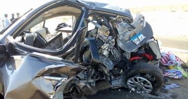 مصرع ربة منزل فى حادث تصادم سيارتين بكفر الدوار