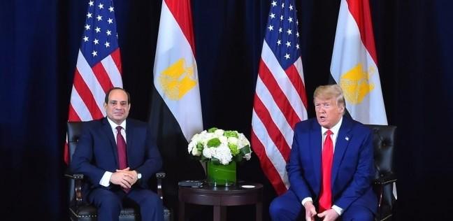 """ترامب: """"مصر أقوى من ذي قبل.. والمظاهرات موجودة حتى في أمريكا"""""""
