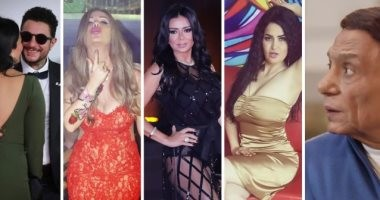 مثيرو الجدل فى 2018.. الزعيم والفيشاوى ورانيا يوسف ونيكول سابا