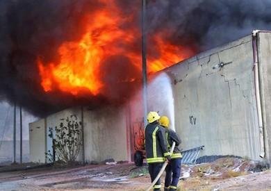 السيطرة على حريق مصنع في 6 أكتوبر