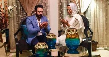 صور.. الفنان ماجد المصرى يحتفل بخطبة ابنته ماهيتاب فى جو عائلى بمنزله