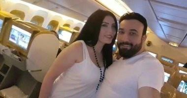 صور.. عبير صبرى تعود إلى مصر بعد قضاء إجازة الزواج فى دبى